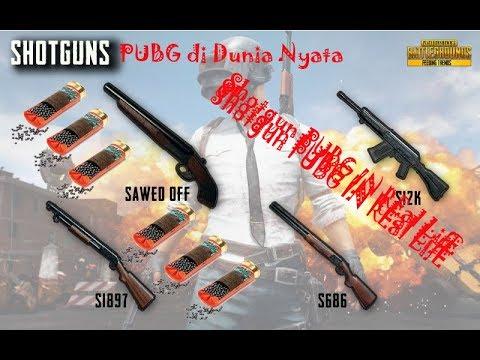 Shotgun Pubg Mobile Di Dunia Nyata Youtube