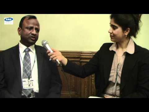 Rajnish Kumar, Regional Head of State Bank of India, UK with Taru Sugandha Dhir
