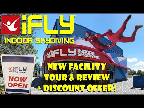iFLY Orlando Indoor Skydiving New Facility Full Tour, Review, Interviews, & DISCOUNT OFFER!