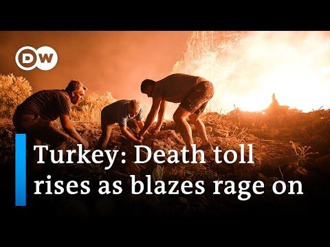 Wildfires in Turkey threaten beach resorts | DW News