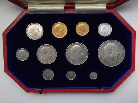 Unboxing of a beautiful 1902 GB Silver and Gold Proof Set - available on ebay.