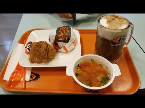 A&W All American Food Paket Gratis 4 (Deluxe Burger, Fried Chicken, Soup & Roo Beer Float) 28/Dec/18