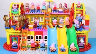 Peppa Pig Lego House Building With Water Slide Toys #2