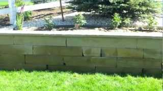 Buff Stripstone And Boulder Retaining Walls By Westminster Landscape Contractor