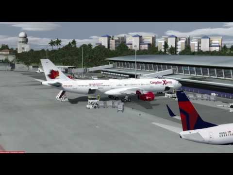 Airbus A340-313 St Maarten (TNCM) to Montreal (CYUL) P3D v3.4