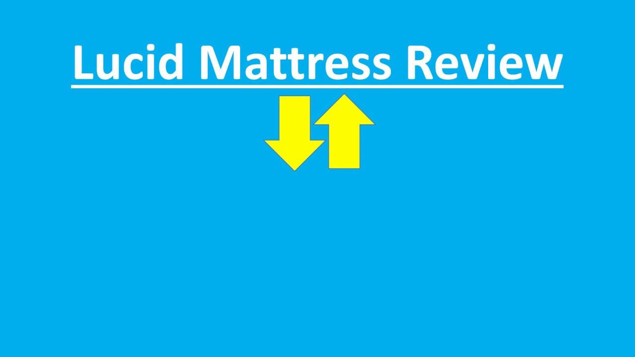 Lucid Mattress Reviews Lucid Memory Foam Mattress Review Unboxing