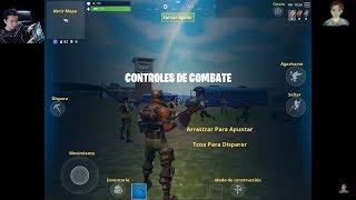 Fortnite en Mobile Battle Royal Probando Controles Juego Ipad Celular iOS Movile + Llama