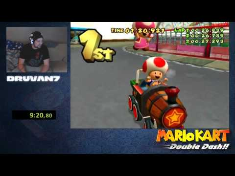 Mario kart: Double dash!! All cup tour overall (Former) World Record 27.47.040 by Druvan7