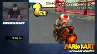 Mario kart: Double dash!! All cup tour overall World Record 27.47.040 by Druvan7