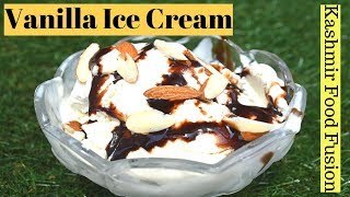 Vanilla ice cream || Home made vanilla ice cream only 3 ingredients || vanilla Brick Ice Cream