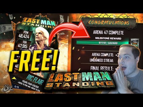 HOW TO GET PAST ARENA 47 IN LAST MAN STANDING FREE! | WWE SuperCard