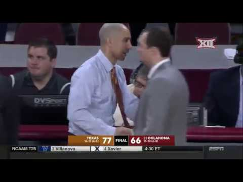 Texas vs Oklahoma Men's Basketball Highlights