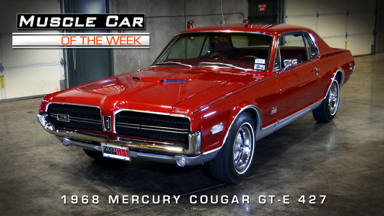 Muscle Car Of The Week Video #59: 1968 Mercury Cougar GT-E ...