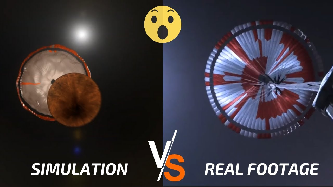 Download Perseverance Landing On Mars Video: Simulation vs Reality!