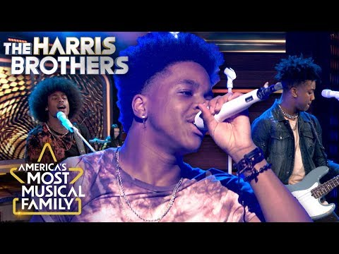 The Harris Brothers rock out to