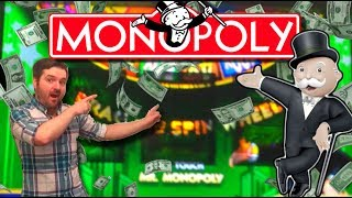 Live play of New Monopoly Boardwalk Sevens Slot Machine