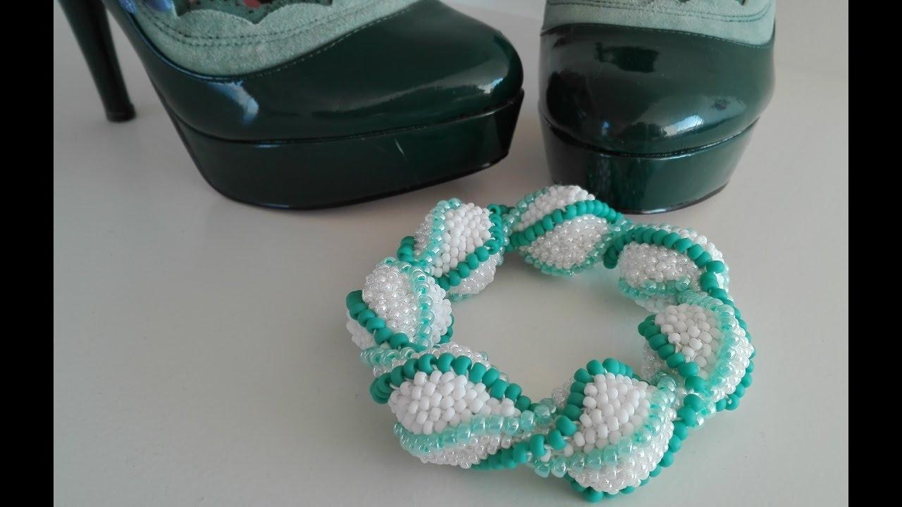 Gedraaide Armband Haken Met Grote En Kleine Kralen Youtube