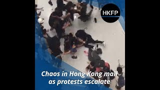 Chaos in Hong Kong mall as police and anti-extradition law protesters clash