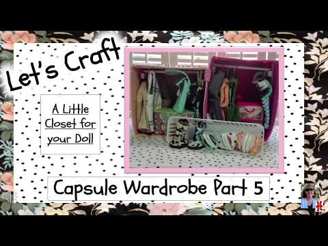 Closet for American Girl doll using Dollar Tree items