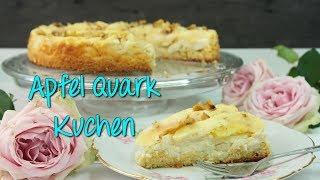 APFEL QUARK KUCHEN REZEPT | Apfelkuchen mit Quarkschicht backen [einfach & schnell] Kuchenrezepte
