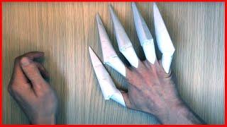 Как сделать из бумаги КОГТИ оригами своими руками