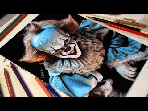 DRAWING IT PENNYWISE - DESENHANDO IT A COISA
