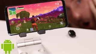 FORTNITE FOR ANDROID IS OFFICIALLY OUT !!! | Galaxy S9+ GAMEPLAY and DOWNLOAD LINK