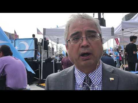 世界维吾尔大会美国委员会主席伊琍夏提对美国和世界讲话