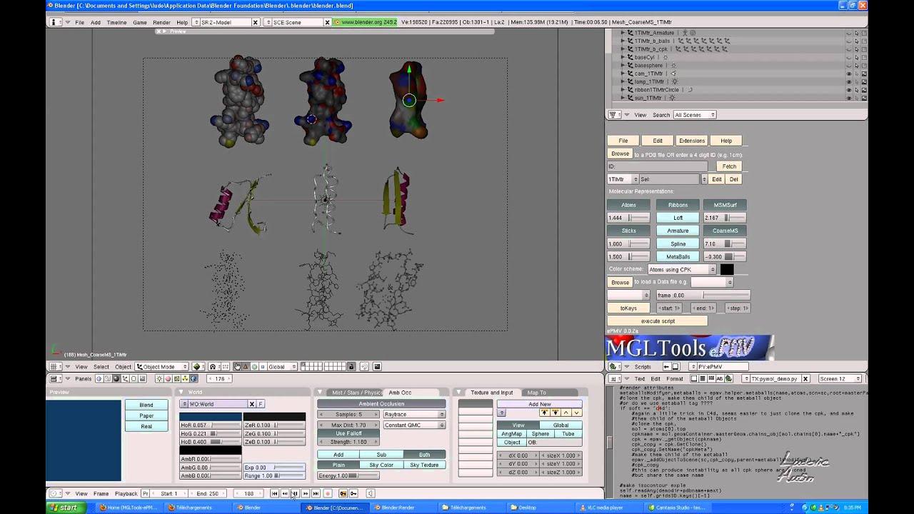 structure2010 - ePMV – the embedded Python Molecular Viewer