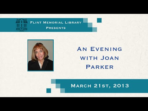An Evening with Joan Parker at the North Reading Flint Memorial Library March  21st 2013