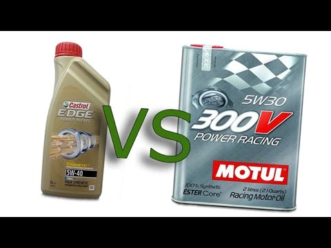 castrol edge 5w40 turbo diesel vs motul 300v power racing. Black Bedroom Furniture Sets. Home Design Ideas
