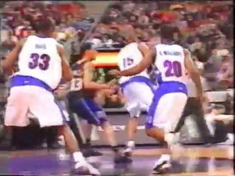 VC HUGE 360 fingeroll vs Kings 2001 season