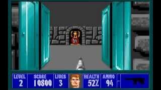 Wolfenstein 3D wolf3d DOS 1992 gameplay HD
