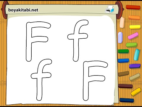 Letter F Coloring Pictures : Alphabet coloring pages letter f page youtube