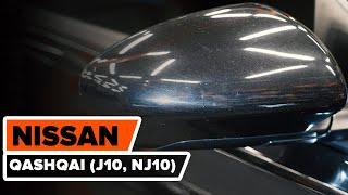 Kā nomainīt NISSAN QASHQAI (J10, NJ10) ārējais atpakaļskata spogulis [AUTODOC VIDEOPAMĀCĪBA]