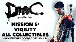 DmC: Devil May Cry - Mission 5: Virility - All Collectibles (Keys, Lost Souls, Secret Doors)