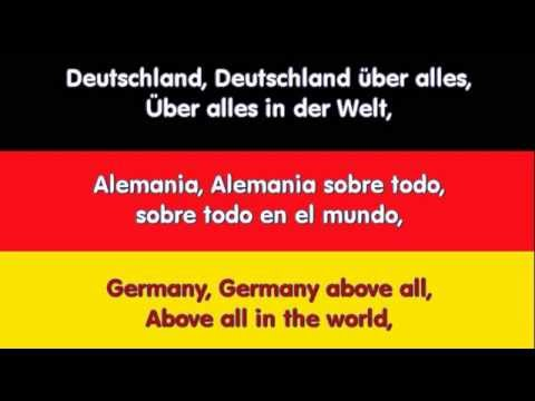 anthem german himno alemania german español english lyrics FULL