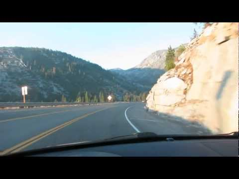 Driving Into The Sunset. Hiway US 50 From Lake Tahoe