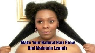 Make Your Natural Hair Grow And Maintain Length + The Products I Use
