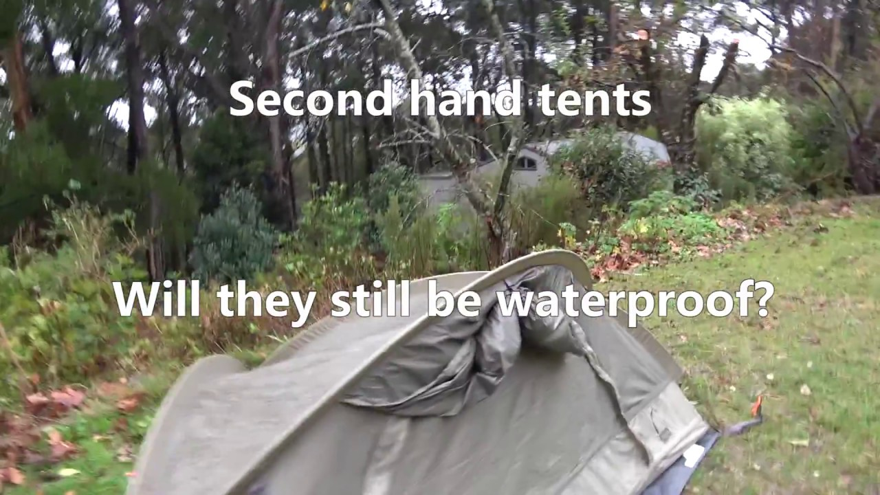 Donu0027t buy a second hand tent until you watch this - is it waterproof? Part 1 & Donu0027t buy a second hand tent until you watch this - is it waterproof ...