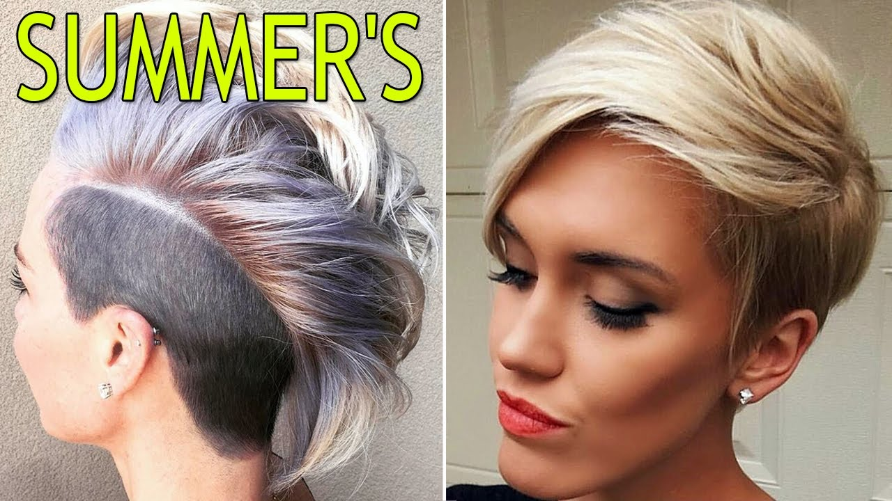 Short Summer Haircuts For Women Summer Hair Styles Youtube