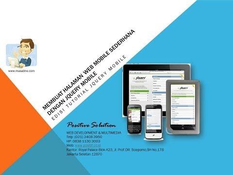 Belajar Membuat Halaman Web Mobile Sederhana Dengan JQuery Mobile