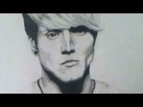 Drawing Dougie Poynter from McFly (plus Bubble Wrap played on the piano)