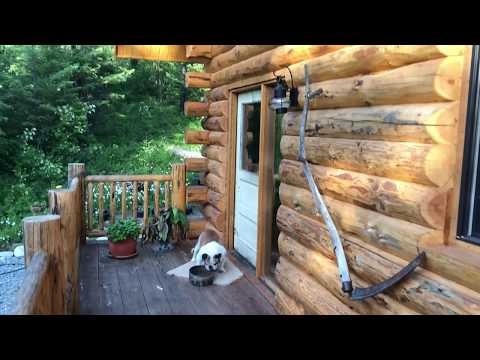 24x30 Log Cabin Walk Through With Basement