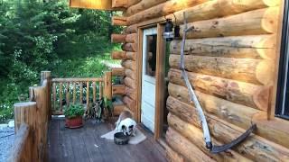 24x30 Log Cabin Walk Through, with Basement