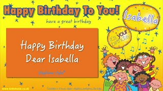 Jump Singers - Happy Birthday Dear Isabella (For Playtime)