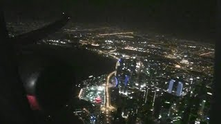 Awesome Business Class HD 787 Dreamliner Night Takeoff From Doha On Qatar Airways!!!