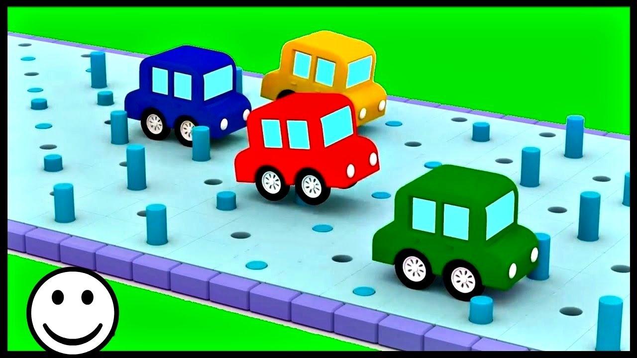 Dessin animé éducatif pour enfants de 4 voitures ...