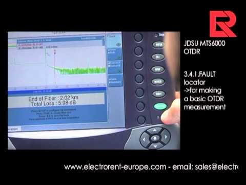 How to video: JDSU MTS6000 OTDR- Compact Optical Mainframe | Electro Rent Europe