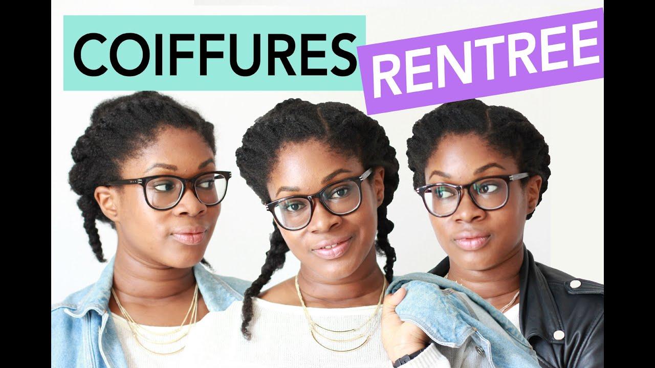 3 coiffures a essayer pour la rentree sur cheveux fris s cr pus naturels youtube. Black Bedroom Furniture Sets. Home Design Ideas
